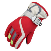 Enjoydeal Kid/Children Winter Warm Gloves Waterproof Adjustable Full-Finger Gloves Strap for Sports, Skiing, Cycling