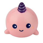 erthome 8cm Unicorn Whale Cartoon Scented Squishy Charm Slow Rising Squeeze Toy Charm Present