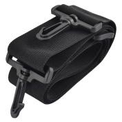 Household Nylon Luggage Suitcase Backpack Adjustable Shoulder Strap Black