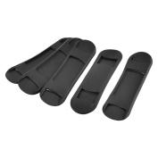 Backpack Plastic Anti-slip Replacement Shoulder Bag Strap Pads Black 5pcs