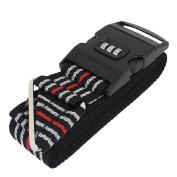Outside Travel 3 Digits Adjustable Password Locking Luggage Backpack Strap Belt