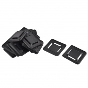 Backpack Plastic Anti-slip Replacement Shoulder Bag Strap Pads Black 20pcs