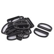 Suitcase Backpack Plastic D Shaped Removable Strap Bag Buckles Black 5cm 20pcs