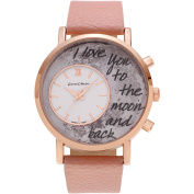Journee Collection Women's Rose Goldtone To the Moon and Back Dial Link Bracelet Fashion Watch