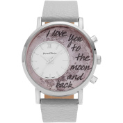 Journee Collection Women's Silvertone To the Moon and Back Dial Link Bracelet Fashion Watch