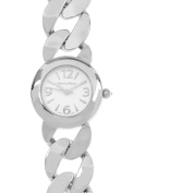 Journee Collection Women's Round Face Link Fashion Watch, Silver