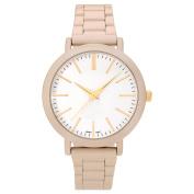 Geneva Platinum Women's Matte Round Dial Link Bracelet Fashion Watch
