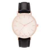 Geneva Platinum Women's Round Case Faux Mother of Pearl Dial Strap Fashion Watch