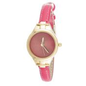 Xtreme Via Nova Slim Women's Small Goldtone Pink Leather Strap Watch