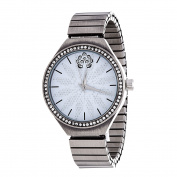 Xtreme WallFlower Strech Women's Collection with Gun Silver Alloy Strap Cubic Zirconia Watch