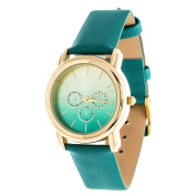 Xtreme Gold Case and Turquoise Leather Strap Watch