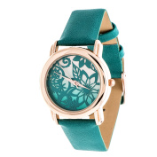 Xtreme Rose Gold Case and Turquoise Leather Strap Watch