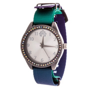 Xtreme WallFlower Slim Women's Collection with Green Nylon Strap Cubic Zirconia Watch