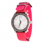 Xtreme WallFlower Slim Women's Collection with Pink Nylon Strap Cubic Zirconia Watch