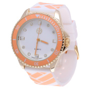 Imperial Home The Women's MBW023G-OR Orange Colour Fashion Rubber Band Watch