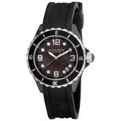 Akribos XXIV Women's Ceramic Black Strap Watch with FREE GIFT