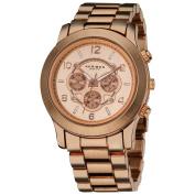 Akribos XXIV Women's Quartz Multifunction Rose-Tone Case Fashion Bracelet Watch with FREE GIFT - White