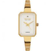 SO & CO New York Women's Madison White/Silvertone/Goldtone/Rosetone Mineral/Stainless Steel Diamond Quartz Bracelet Watch