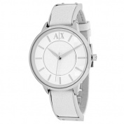 Armani Exchange Women's AX5300 White Leather Analogue Quartz Fashion Watch