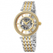 Stuhrling Original Women's Automatic Skeleton Delphi Element Crystal Two-Tone Link Braclet Watch