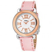 Fendi Women's F8012345H0.SN07 'Selleria' Mother of Pearl Dial Pink Leather Strap Swiss Quartz Watch