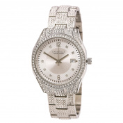 Caravelle 43M112 Women's Crystal Fashion Silver Dial Stainless Steel Bracelet Watch