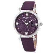 Stuhrling Original Women's Quartz Genuine Pearls Vogue Purple Leather Strap Watch