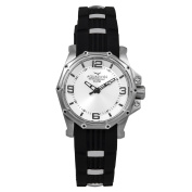 AQUASWISS Unisex 81M002 Vessel M Black/ White Stainless Steel and Silicone Watch
