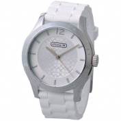 Coach Women's 14501803 Maddy Round White Silicone Strap Watch
