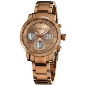 Akribos XXIV Women's Rosetone Quartz Chronograph Stainless Steel Bracelet Watch with FREE GIFT