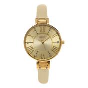 SO & CO New York SoHo Studio Edition Women's Champagne Leather Strap Quartz Crystal Watch