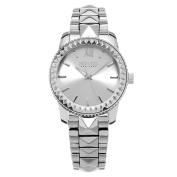 SO & CO New York Women's Quartz Madison Silvertone Watch with Stainless Steel Link Bracelet