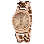 Akribos XXIV Women's Swiss Quartz Diamond Twist Chain Bracelet Rosetone Watch with FREE GIFT - Gold/White