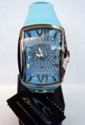 Chronotech Women's CT.7906L/01 Blue Leather Date Wristwatch