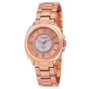 Akribos XXIV Women's Swiss Quartz Stainless Steel Rose-Tone Bracelet Watch with FREE GIFT