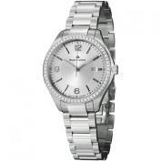 Maurice Lacroix Miros MI1014-SD502-130 32mm Silver Steel Bracelet & Case Anti-Reflective Sapphire Women's Watch