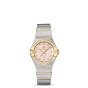 OMEGA Women's Constellation Diamond 27mm Two Tone Steel Bracelet Automatic Watch 123.25.27.20.57.005