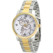 Sesame Street, Oscar the Grouch Two-Tone Alloy Watch, Two-Tone Stainless Steel Bracelet