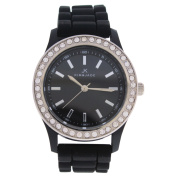 2032L-BK Black Silicone Strap Watch
