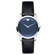 Movado Women's Museum 0606611 Black Leather Swiss Quartz Watch