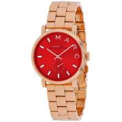 Marc Jacobs Women's Baker Watch Quartz Mineral Crystal MBM3344