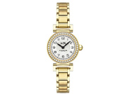 COACH Women's Madison Fashion 23mm Bracelet Watch White/Gold Plated Watch