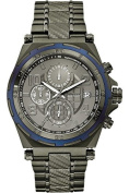 GUESS STEEL W0243G3,Men's Chronograph Sport,Cutting Edge,Dark-Tone,Stainless Steel,Screw crown,100m WR
