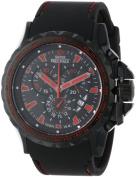 Swiss Precimax Mens SP13151 Command Pro Sport Black Dial with Black Polyurethane Band Watch
