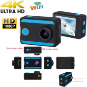 TianranRT Ultra 4K H26 HD 1080P Action Sports Camera WiFi Waterproof Camcorder 4K/2.7K/1080p/720P Support Android /ISO APP Control Underwater Up To 30 Metres 12-megapixel HD 170 Wide-Angle Lens