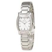 Bulova 96R135 Women's Diamond Accented Bezel White Dial Steel Bracelet Watch