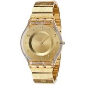 Swatch Women's Skin SFK355G Gold Stainless-Steel Swiss Quartz Fashion Watch