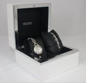 Seiko Women's SUJG63 Silver Watch Gift Set With Extra Bracelet