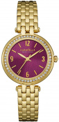 Caravelle New York Womens Stainless Steel Case and Bracelet Pink Dial Gold Watch - 44L174