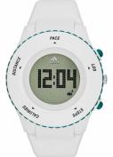 Unisex Adidas Performance Sprung White Silicone Digital Runner Watch ADP3221